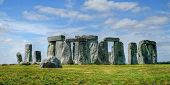 stock photo of stonehenge  - Stonehenge, ancient ring of standing stones, Salisbury plain,