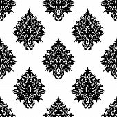 Abstract seamless flourish pattern in damask style