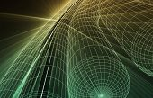 Abstract Futuristic Circuit Technology Background as Art
