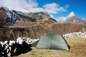 Tent In Himalayan Mountains - Trek To Everest Base Camp