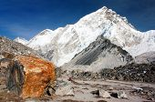 Nuptse Peak Near Gorak Shep Village