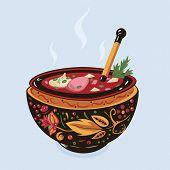 Ukrainian soup Borsch