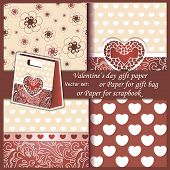 Wallpaper, Valentine's Day gift paper or for scrapbook