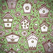 Birdhouses pattern