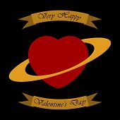 Valentine's Greeting Card - Heart As A Planet