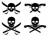 Jolly Roger With Crossed Saber And Pistol