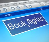 Online Flight Booking Concept.