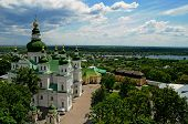 stock photo of trinity  - Holy Trinity Monastery in Chernihiv, Ukraine, view from above. 1069 year, 11th century