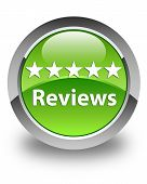 Reviews Glossy Green Round Button