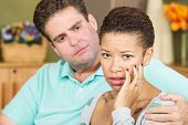 Worried Woman With Husband