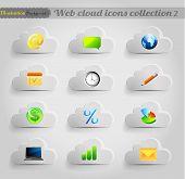 Internet cloud icons set