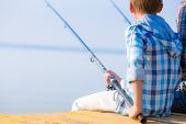 foto of fishing rod  - Close - JPG