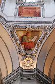 SALZBURG, AUSTRIA - DECEMBER 13: Saint John the Evangelist, fragment of the dome in Salzburg Cathedral on December 13, 2014 in Salzburg, Austria.
