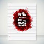 Merry Christmas and Happy New Year typographic headline.