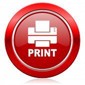 printer icon print sign