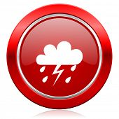 storm icon waether forecast sign