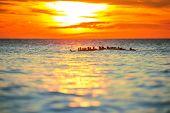 Morning Sunrise Over Sea