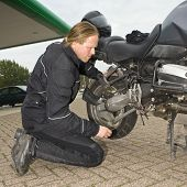 Checking A Motorcycle