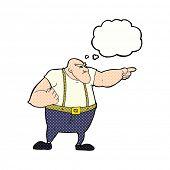 cartoon pointing tough guy