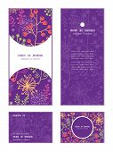Vector colorful garden plants vertical frame pattern invitation greeting, RSVP and thank you cards s