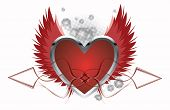 Love Background With Heart - vector illustration