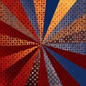 Grunge texture. With different color patterns: yellow (beige); red (orange); brown; blue