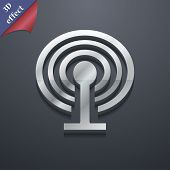 Wi-fi  Icon Symbol. 3D Style. Trendy, Modern Design With Space For Your Text Vector