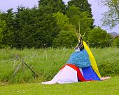 A Teepee Made By Children To Use As A Den