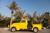 Classic Yellow Chevy Pickup Truck