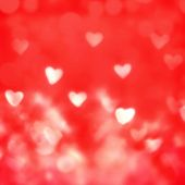 Happy Valentine's Day Abstract   Defocused Bokeh Twinkling Lights Vintage Background. Festive Backgr