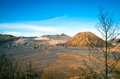 stock photo of bromo  - Volcanic plateau of mount Bromo Java Indonesia - JPG