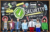 Multi Ethnic Group Security Protection Information Concept