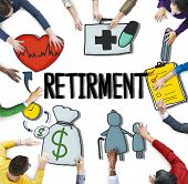 Retirment Payment Pension Planning Salary Money Concept