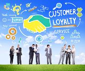 Customer Loyalty Service Support Care Trust Business Concept