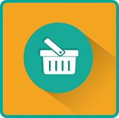 Flat Vector Shopping basket Icon