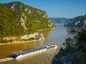Danube river.  Serbia and Romania border.