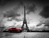 image of car symbol  - Artistic image of Effel Tower - JPG