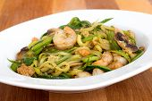 shrimp with zucchini noodles stir-fry