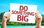 Do Something Big card with a beach on background