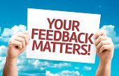Your Feedback Matters card with sky background