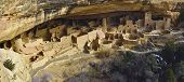 Panoramic View Of The Cliff Palace In Mesa Verde National Park, Colorado In Winter