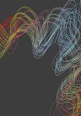Bright futuristic wavy lines background. Vector design