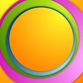 Bright colorful circles background. Vector illustration