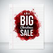Big sale background. Lettering on a stylized ink blot.