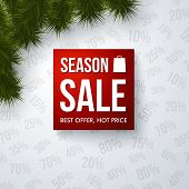 Season sale design template.