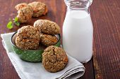 Healthy oatmeal carrot cookies
