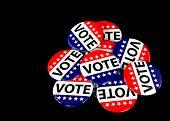patriotic voting pins