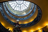 VATICAN - CIRCA JAN 2015: Spiral Stairs of the Vatican Museums in Vatican, Italy.