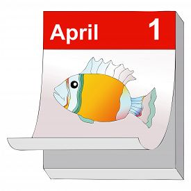 picture of prank  - April 1 humorous illustration representing the day of pranks and false news - JPG