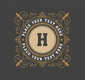 picture of boutique  - vintage logo template - JPG